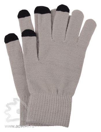 Перчатки для сенсорного экрана «Сет», серые с черным