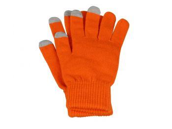 Перчатки для сенсорного экрана «Сет», оранжевые с серым
