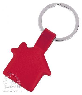 Брелок «Металлический дом», красный