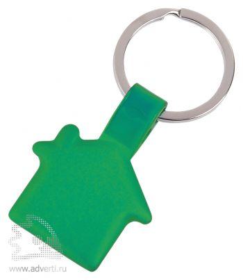 Брелок «Металлический дом», зеленый