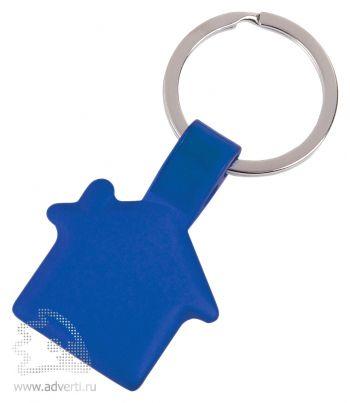 Брелок «Металлический дом», синий