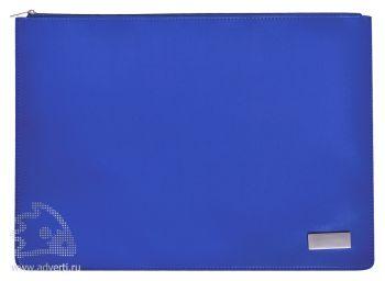 Папка на молнии «Конференция», синяя