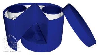 Набор из двух чашек с блюдцами, синий