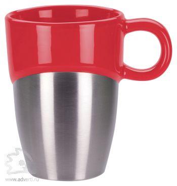 Кружка «Кинтор», красная с серебристым