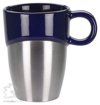 Кружка «Кинтор», темно-синяя с серебристым