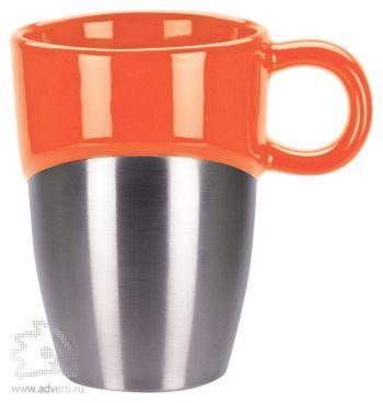 Кружка «Кинтор», оранжевая с серебристым