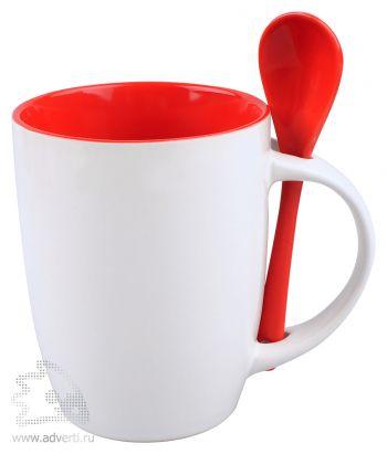 Кружка с ложкой «Авеленго», красная