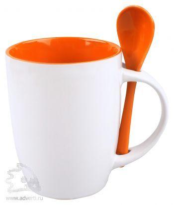 Кружка с ложкой «Авеленго», оранжевая
