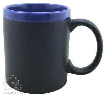 Кружка с покрытием для рисования мелом «Да Винчи», синяя