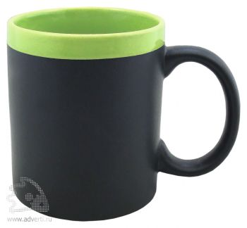Кружка с покрытием для рисования мелом «Да Винчи», зеленая