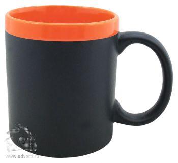 Кружка с покрытием для рисования мелом «Да Винчи», оранжевая