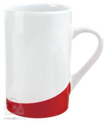 Кружка «Мерсер» с цветной вставкой у основания, красная