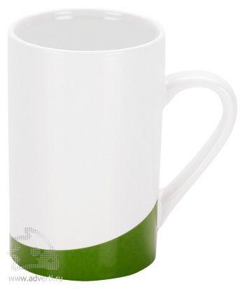 Кружка «Мерсер» с цветной вставкой у основания, зеленая