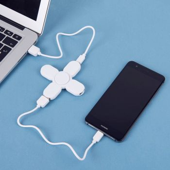 USB-разветвитель «SPINNER», 3 порта, белый, пример использования