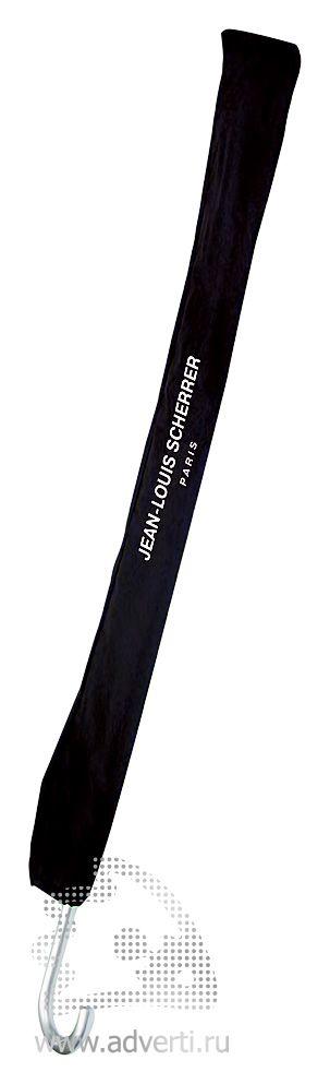 Зонт-трость Jean-Louis Scherrer «Silver Square», квадратный, дизайн чехла