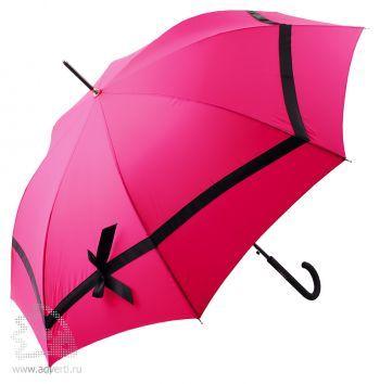 Зонт-трость «Gian Franco Ferre» с бантиком, полуавтомат