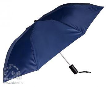 Зонт складной, полуавтомат, 2 сложения, синий