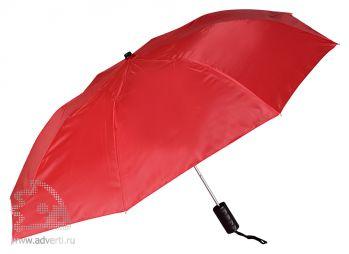 Зонт складной, полуавтомат, 2 сложения, красный