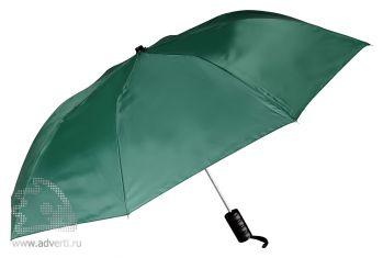 Зонт складной, полуавтомат, 2 сложения, зеленый