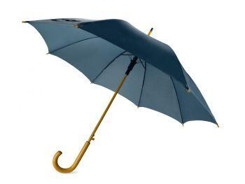 Зонт-трость «Радуга», полуавтомат, темно-синий
