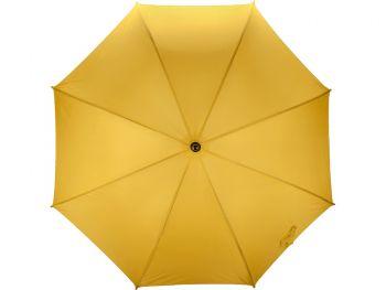 Зонт-трость «Радуга», полуавтомат, ярко-желтый