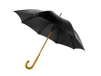 Зонт-трость «Радуга», полуавтомат, черный