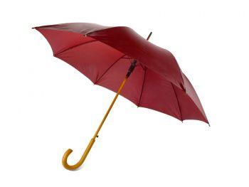 Зонт-трость «Радуга», полуавтомат, бордовый