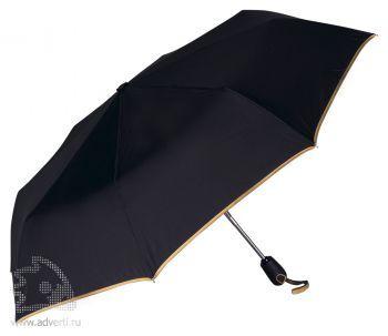 Зонт складной «Уоки», автомат, 3 сложения, желтый