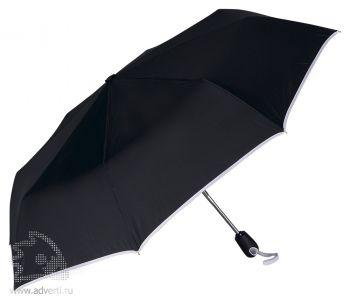 Зонт складной «Уоки», автомат, 3 сложения, белый