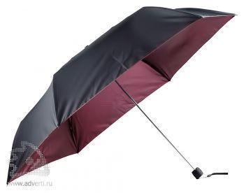 Зонт складной «Витязь», механический, бордовый