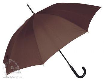 Зонт-трость «Алтуна», полуавтомат, коричневый