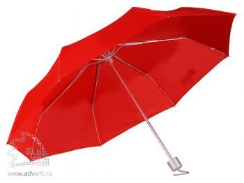Зонт складной, механический, 3 сложения, красный