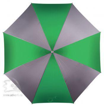 Зонт-трость «Форсайт», механический, зеленый с серым