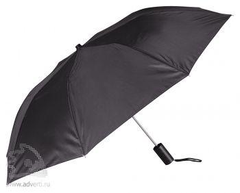 Зонт складной «Андрия», полуавтомат, 2 сложения, черный