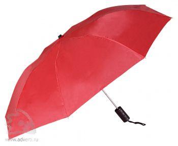 Зонт складной «Андрия», полуавтомат, 2 сложения, красный