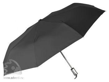 Зонт складной, автомат, 3 сложения, черный