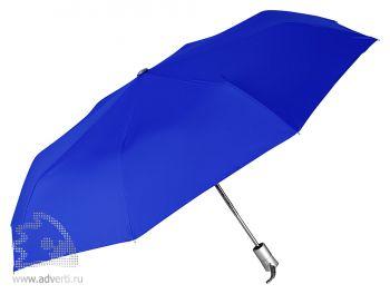 Зонт складной, автомат, 3 сложения, синий