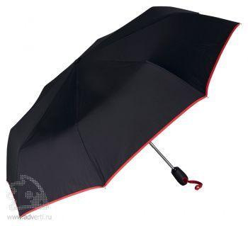 Зонт складной «Уоки», автомат, 3 сложения, красный
