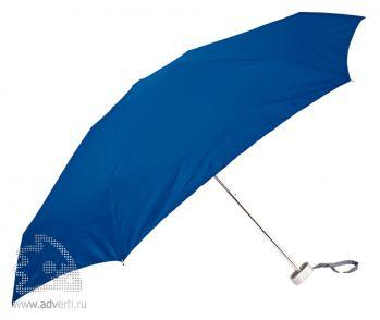 Зонт складной «Гримо», механический, 5 сложений, синий