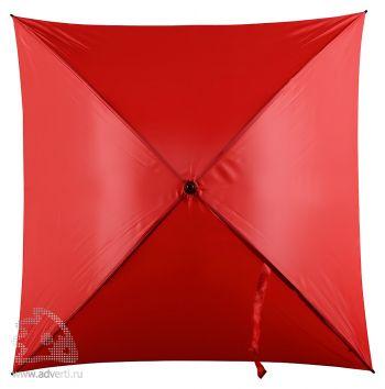 Зонт-трость 4-х клиный «Старка», механический, красный
