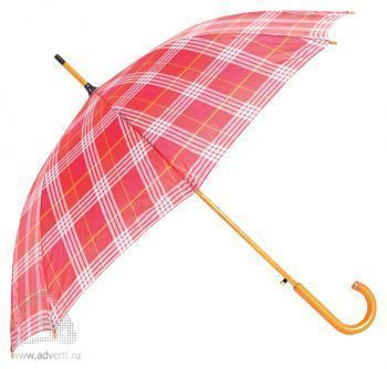 Зонт-трость «Коннор», полуавтомат, красный
