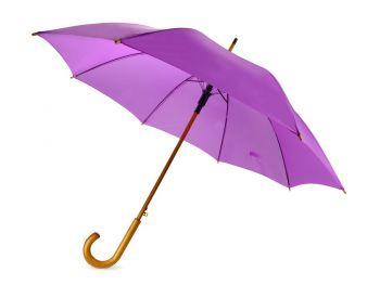 Зонт-трость «Радуга», полуавтомат, фиолетовый