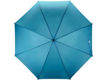 Зонт-трость «Радуга», полуавтомат, ярко-синий
