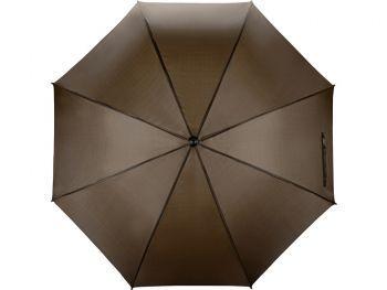 Зонт-трость «Радуга», полуавтомат, коричневый