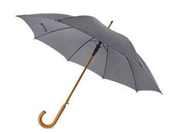 Зонт-трость «Радуга», полуавтомат, серый