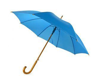 Зонт-трость «Радуга», полуавтомат, голубой