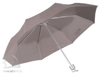Зонт складной, механический, 3 сложения, серый