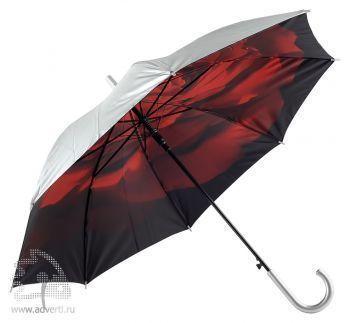Зонт-трость «Роза» двухслойный, полуавтомат
