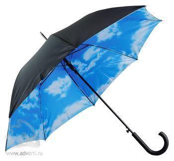 Зонт-трость с двухслойным куполом «Облака», полуавтомат
