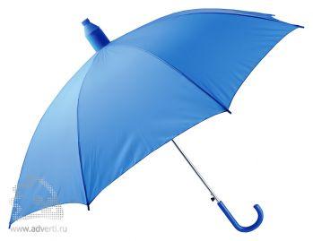 Зонт-трость в телескопическом футляре, полуавтомат, синий